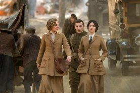 """TIMELESS -- """"The War to End All Wars"""" Episode 201 -- Pictured: (l-r) Susanna Thompson as Carol, Johnathan Stanley as Mac, Abigail Spencer as Lucy Preston -- (Photo by: Justin Lubin/NBC)"""