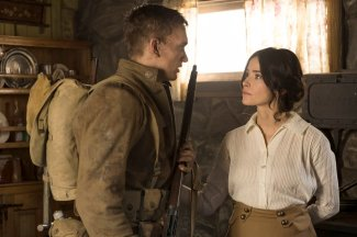 """TIMELESS -- """"The War to End All Wars"""" Episode 201 -- Pictured: (l-r) Cameron Neckers as Soldier Edward, Abigail Spencer as Lucy Preston -- (Photo by: Justin Lubin/NBC)"""