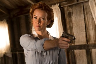 "TIMELESS -- ""The War to End All Wars"" Episode 201 -- Pictured: Anne Wersching as Emma -- (Photo by: Justin Lubin/NBC)"