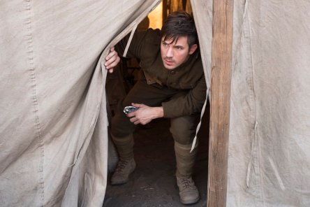 "TIMELESS -- ""The War to End All Wars"" Episode 201 -- Pictured: Matt Lanter as Wyatt Logan -- (Photo by: Justin Lubin/NBC)"