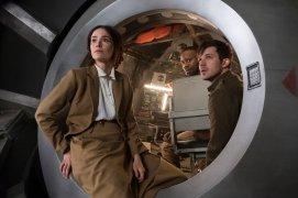 "TIMELESS -- ""The War to End All Wars"" Episode 201 -- Pictured: (l-r) Abigail Spencer as Lucy Preston, Malcolm Barrett as Rufus Carlin, Matt Lanter Wyatt Logan -- (Photo by: Justin Lubin/NBC)"