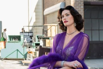 "TIMELESS -- ""Hollywoodland"" Episode 203 -- Pictured: Alyssa Sutherland as Hedy Lamar -- (Photo by: Justin Lubin/NBC)"