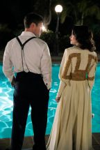 """TIMELESS -- """"Hollywoodland"""" Episode 203 -- Pictured: (l-r) Matt Lanter as Wyatt Logan, Abigail Spencer as Lucy Preston -- (Photo by: Paul Drinkwater/NBC)"""